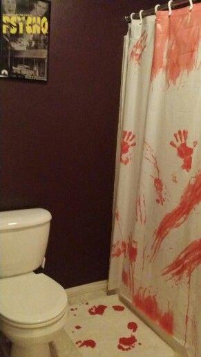 Blood Spatter Shower Curtain