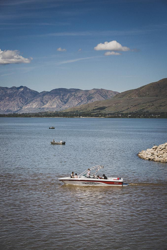 Willard Bay Lights Captivating Boating At Willard Bay State Park  Things To Do In Northern Utah Review