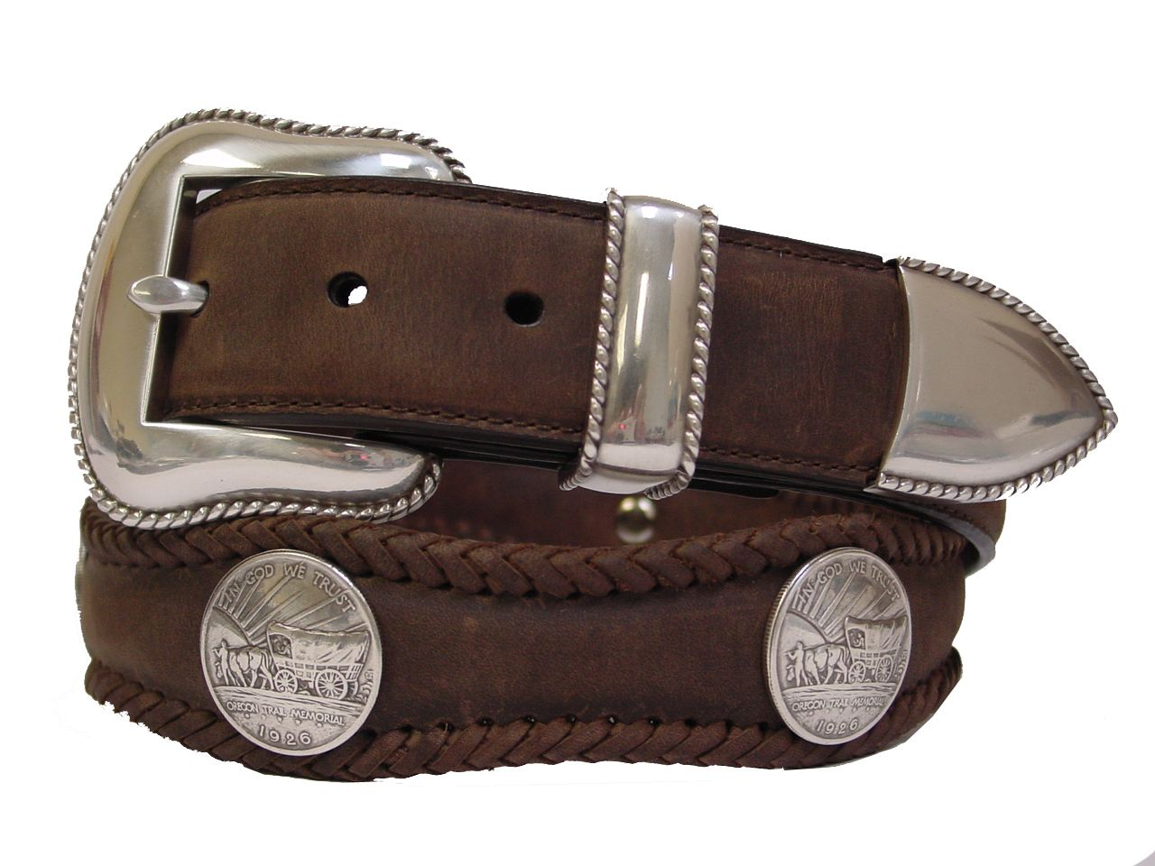 Men/'s Western Cowboy Belt Ranger Saddle Horse Genuine Leather Brown Buckle Pin