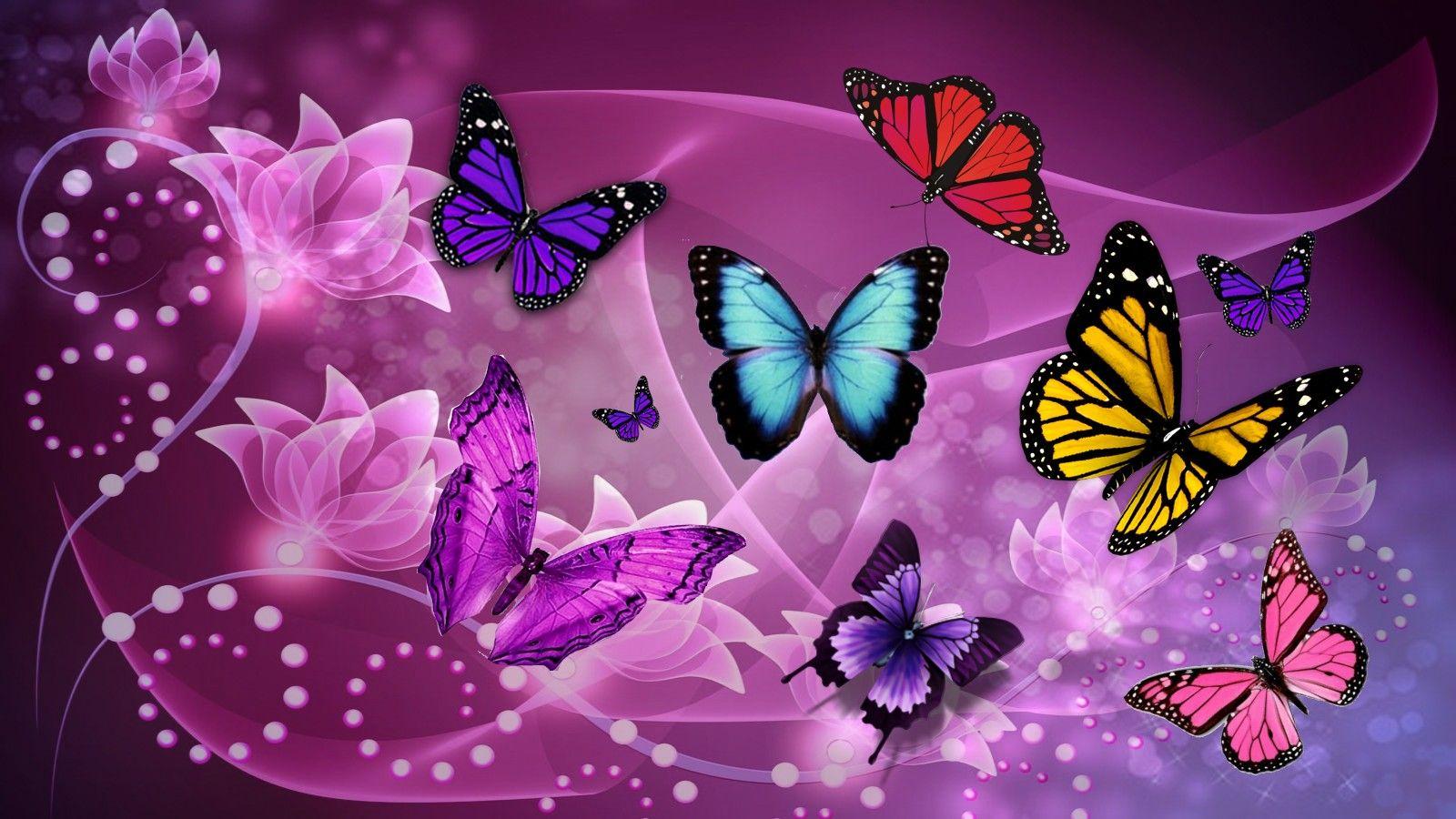 Butterfly Fantasy Pc Purple Wallpaper Pinterest Butterfly