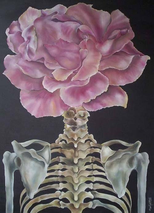 Flower skull...better than being a numb skull;)