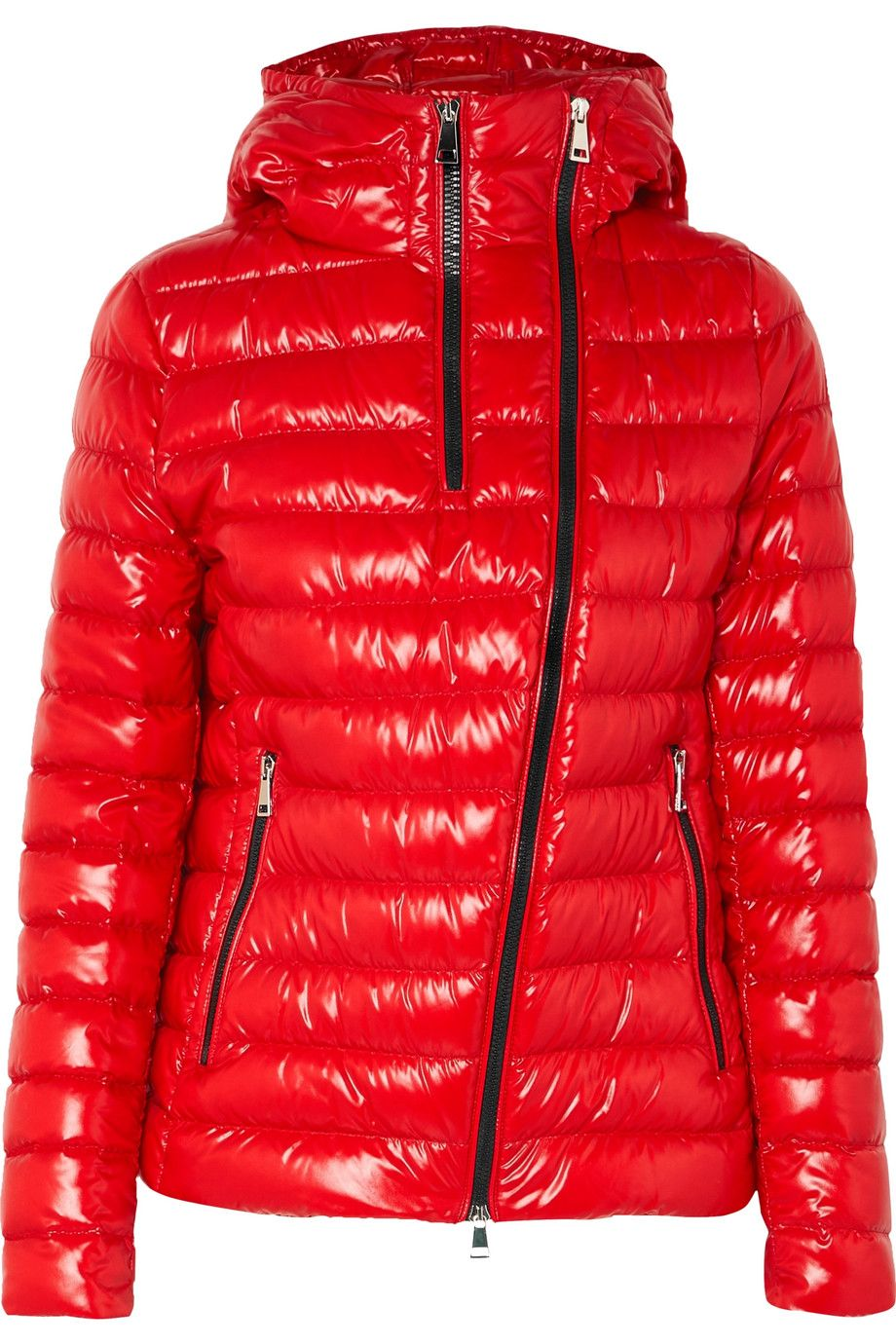 Moncler Hooded quilted glossedshell down jacket NETA