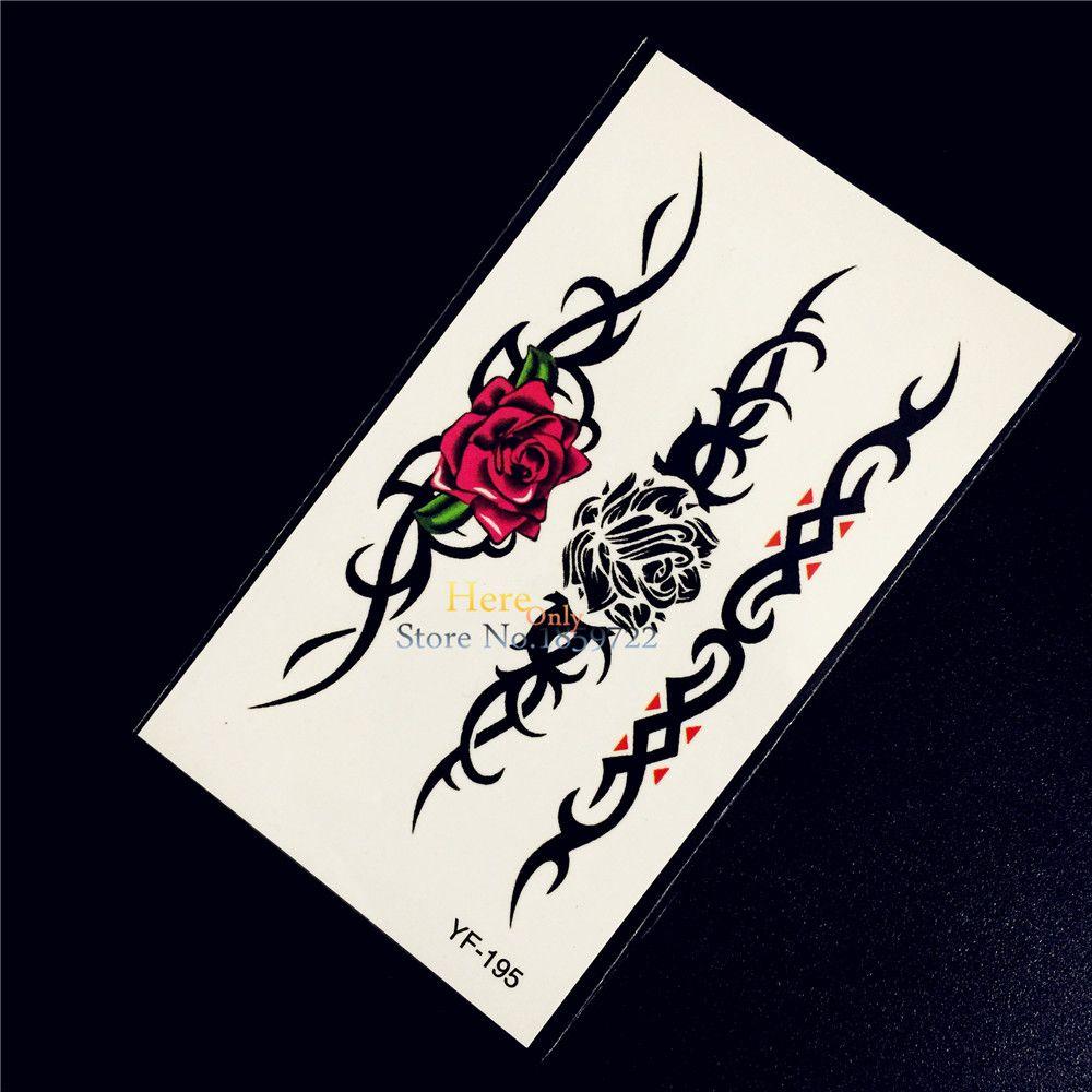 Pc beauty rose flower bracelet temporary tattoo jewelry sticker