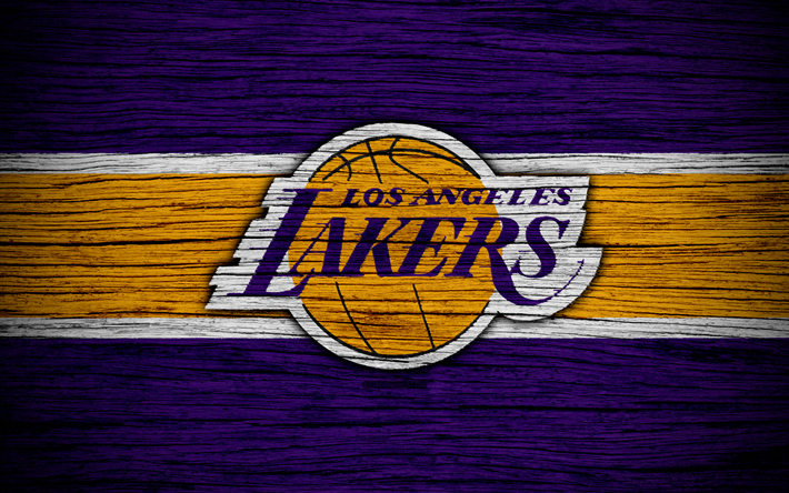 Download wallpapers 4k, Los Angeles Lakers, NBA, wooden