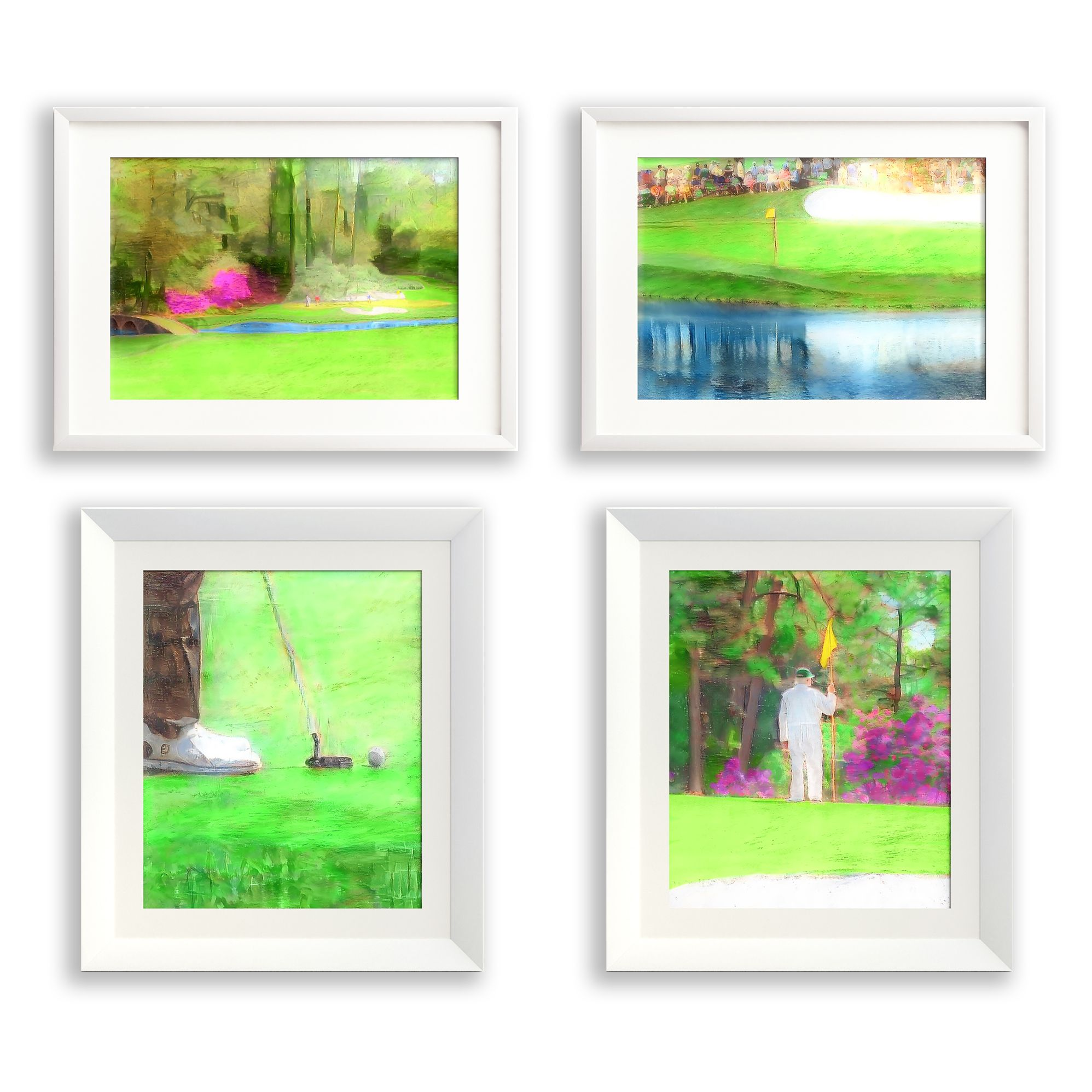 The Masters Golf Printable Art Series Of Four 8x Etsy Golf Decor Golf Prints Masters Golf