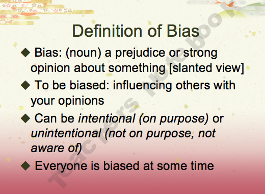 Understanding and Identifying Bias PowerPoint Notes and Activity ...