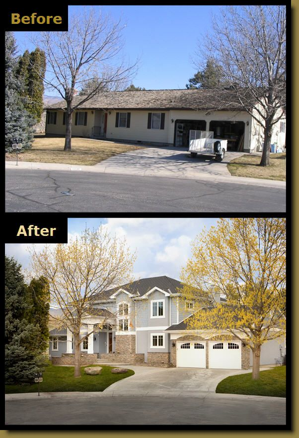 Luxury House Exterior before & after remodeling picture: haylett homes someone please do
