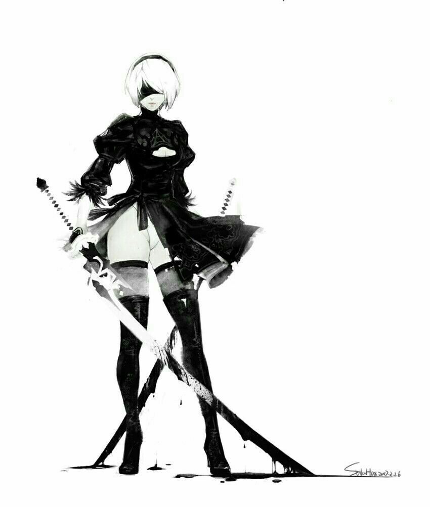 Character Design Nier Automata : Nier automata female character design pinterest
