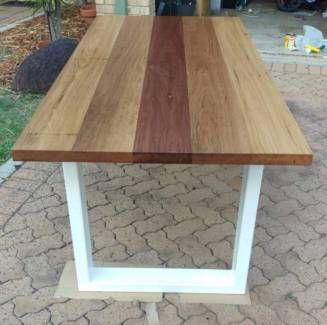 hardwood dining tables gold coast. recycled hardwood with steel leg dinning table   dining tables gumtree australia gold coast north b