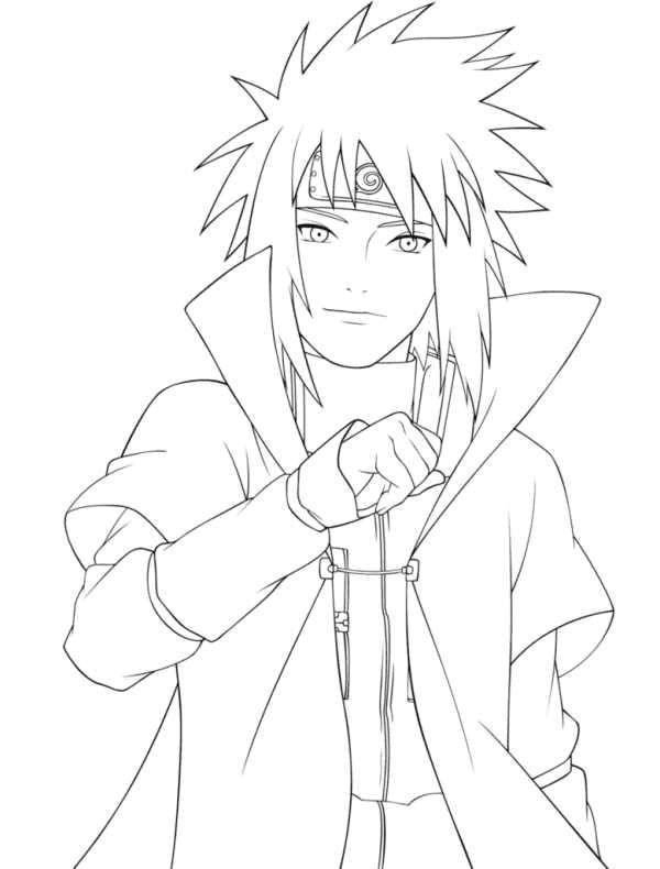 Naruto Coloring Pages Minato Namikaze Naruto Sketch Drawing Naruto Drawings Naruto Sketch