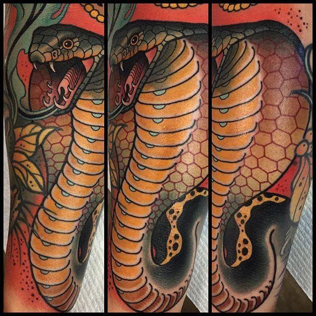 Cobra by sam clark cobra snake neotraditional samclark for Magic cobra tattoo