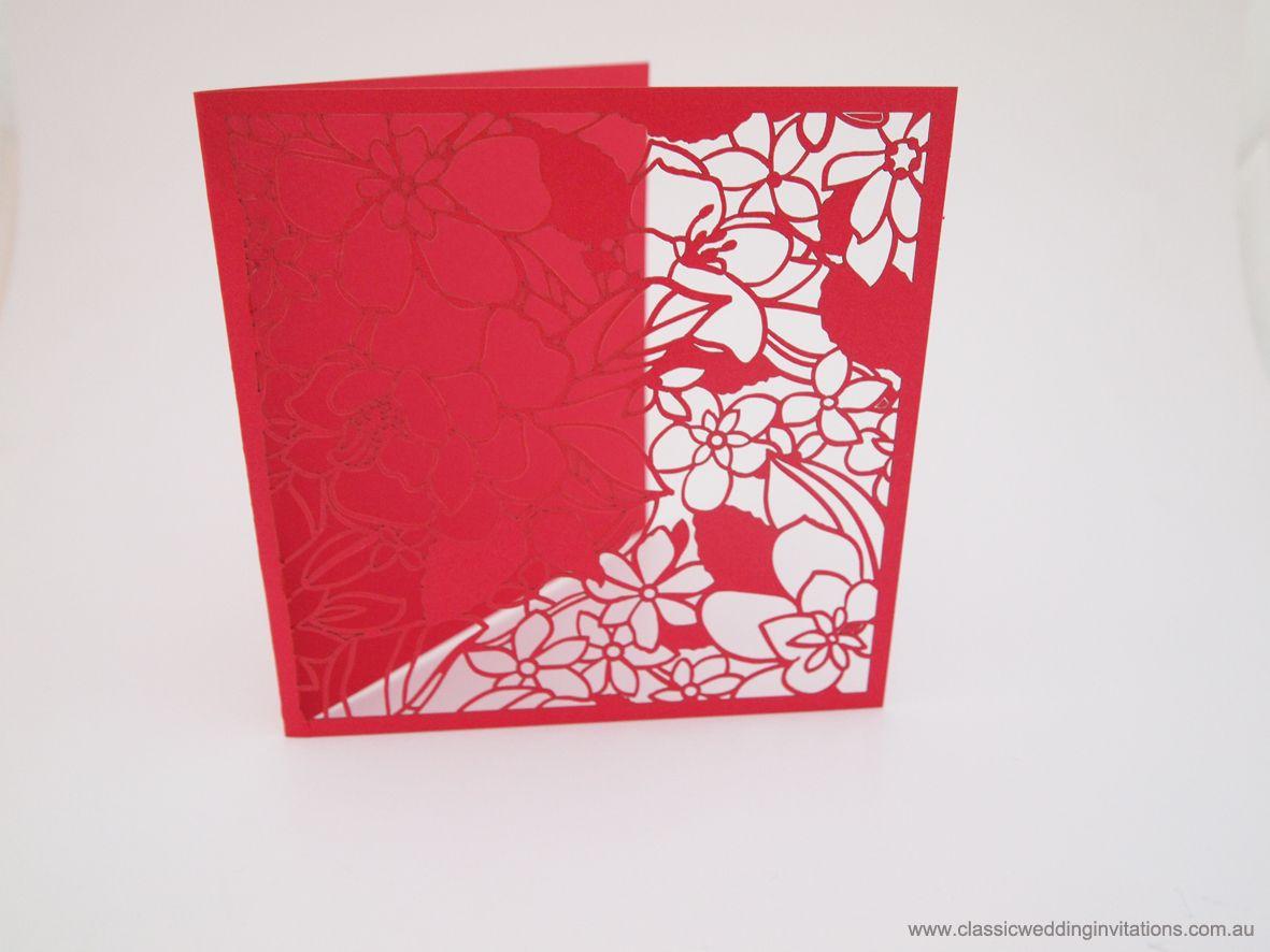 Laser cut folder | Laser Cut Wedding Invites | Pinterest | Wedding ...