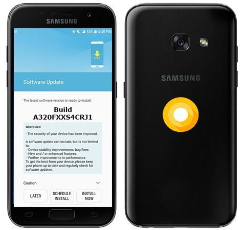 Samsung Galaxy A3 2017 A320FXXS4CRJ1 Update Brings October 2018 Patch