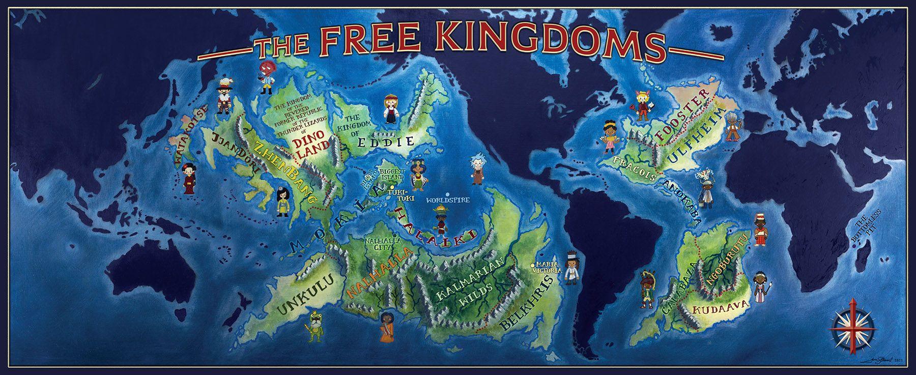 The Free Kingdoms Alcatraz Map Alcatraz Fantasy Authors Map