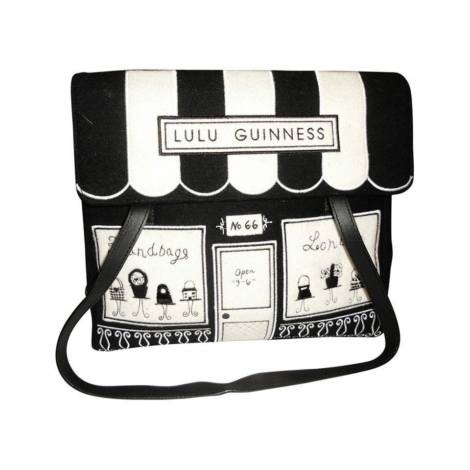 Lulu Guinness Vintage Front Tote Bag W Wallet Bags And