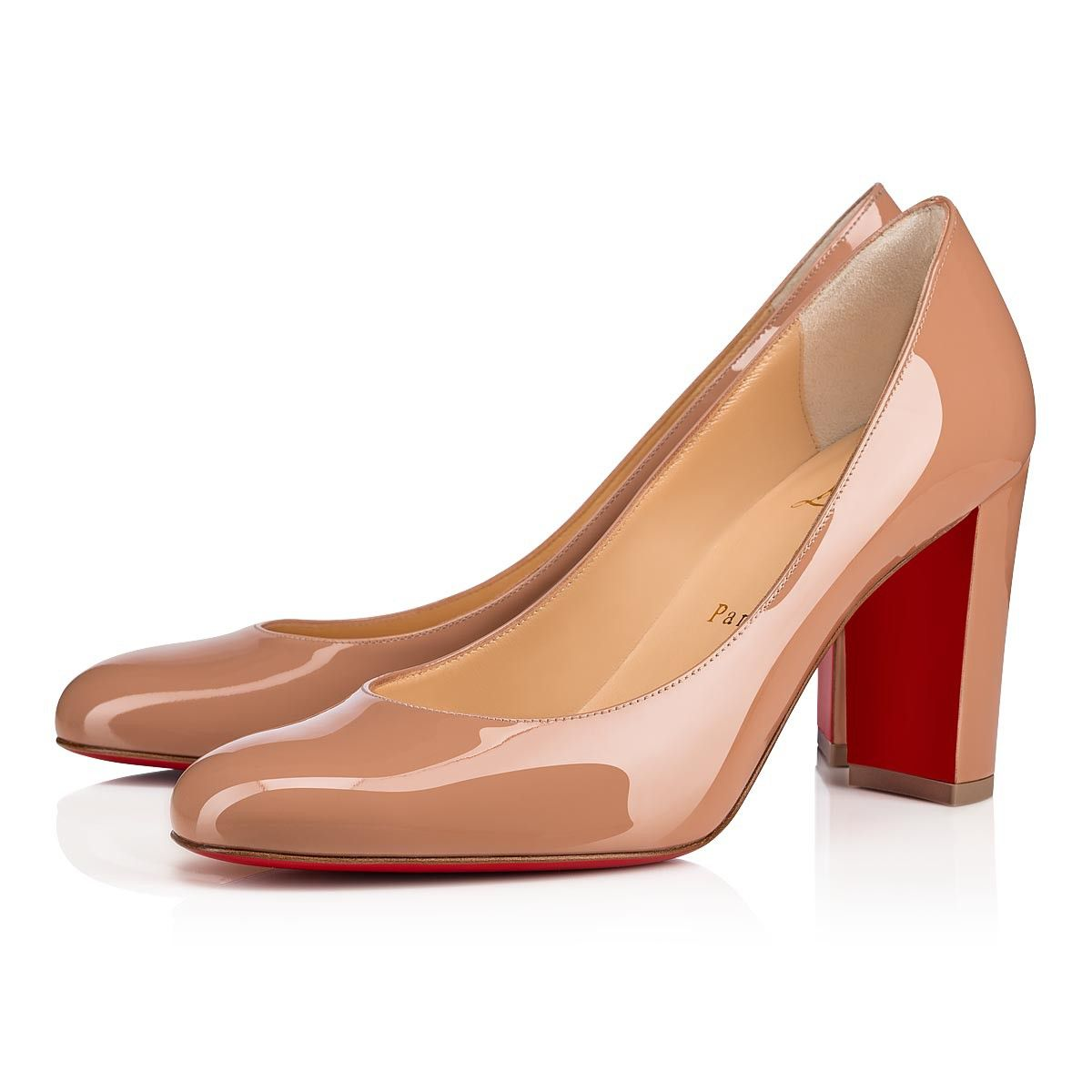 cfc068b9e15d Lady Gena 85 Nude Patent Leather - Women Shoes - Christian Louboutin