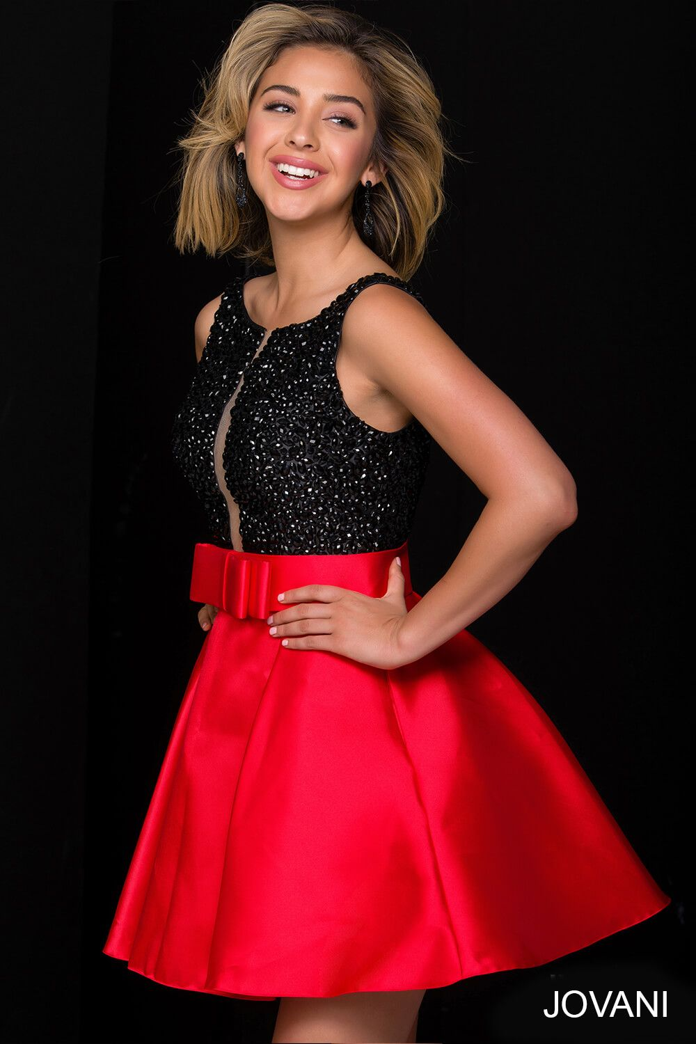 Looking for a different take on the LBD? This #jovani 47035 is ...