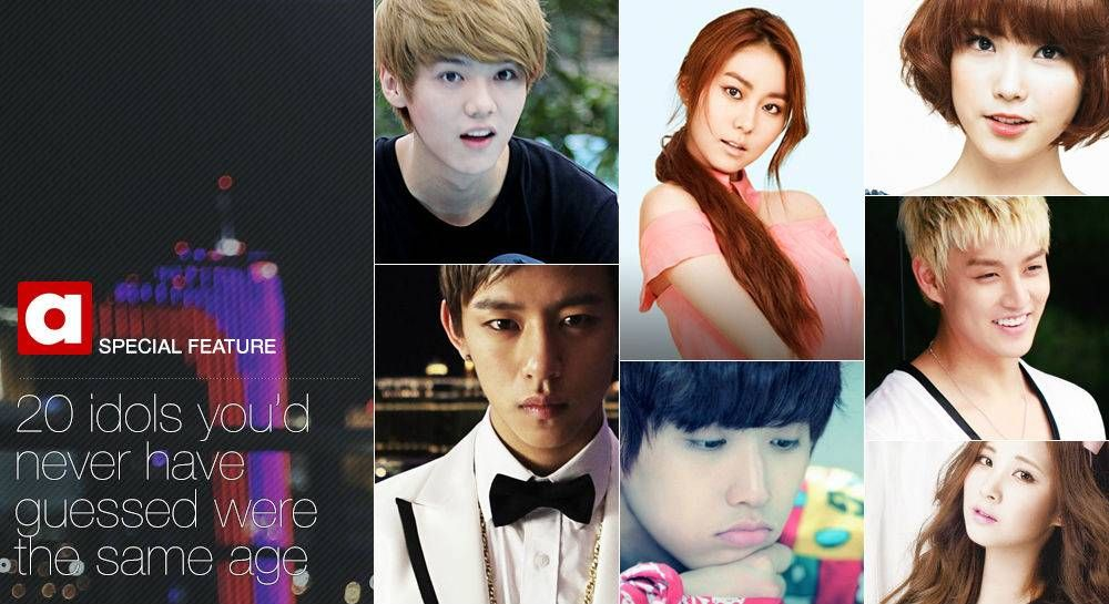 20 Idols You D Never Have Guessed Were The Same Age Idol Guess Age