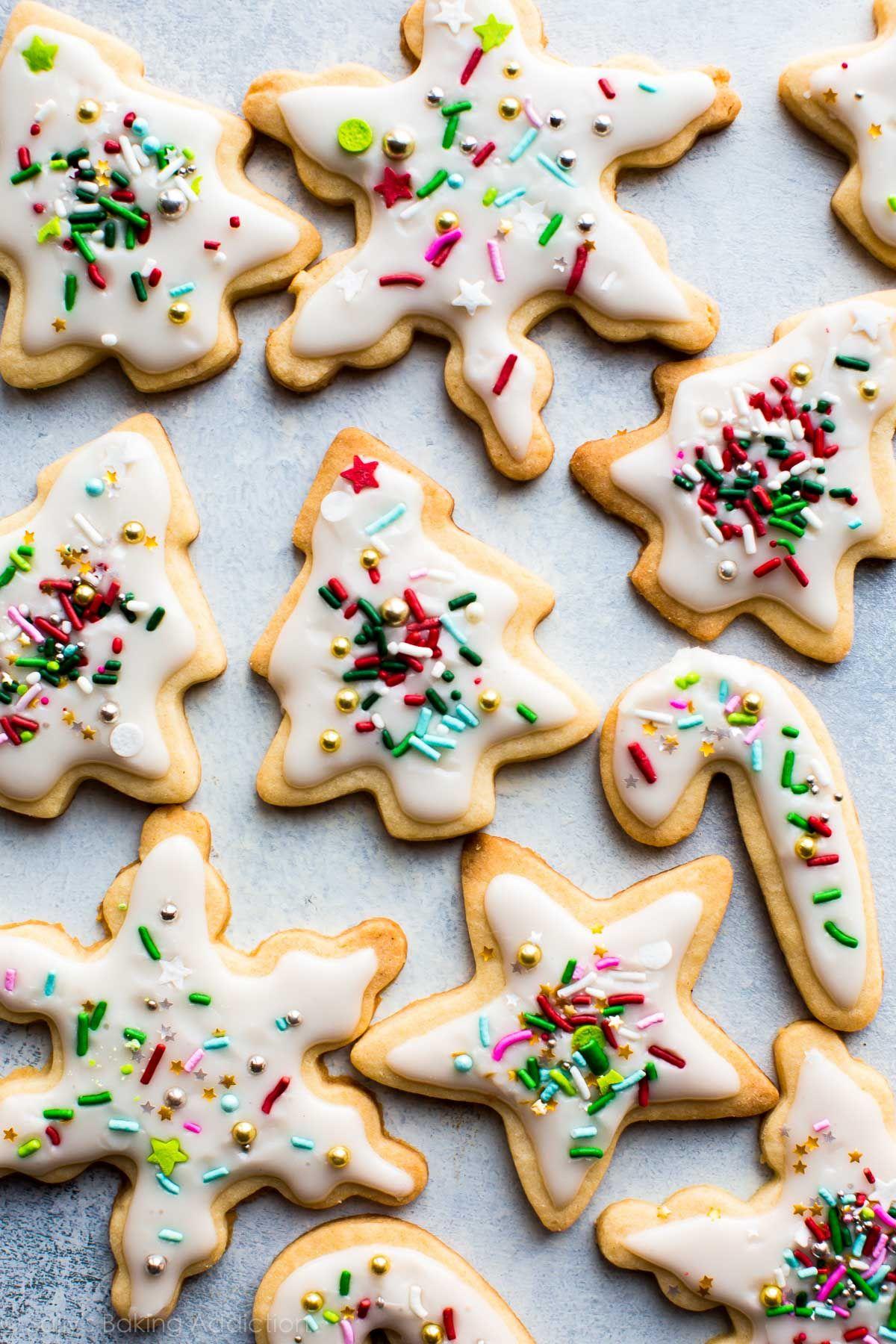 christmas sugar cookies on sallysbakingaddiction com christmas baking cutout sugar cookies cookie recipes homemade pinterest