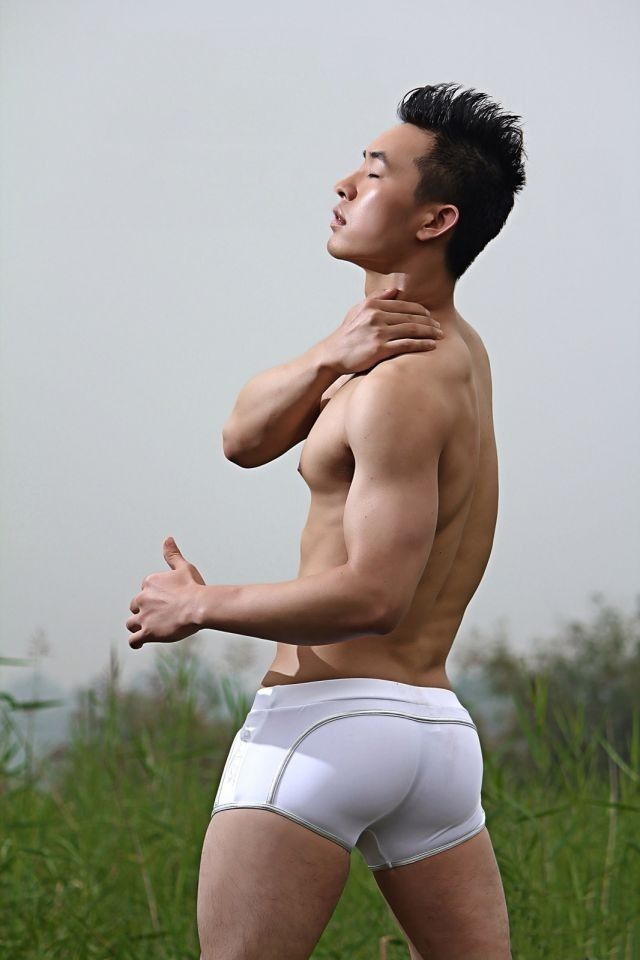 Asian man ass