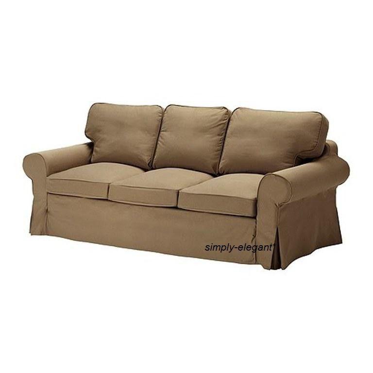 Ikea Ektorp Slipcover Cover For 3 Seat Sofa Idemo Light Brown