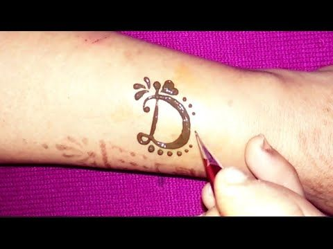 525217b35 Fancy ' D ' Letter henna tattoo || alphabet D Letter mehndi design - YouTube