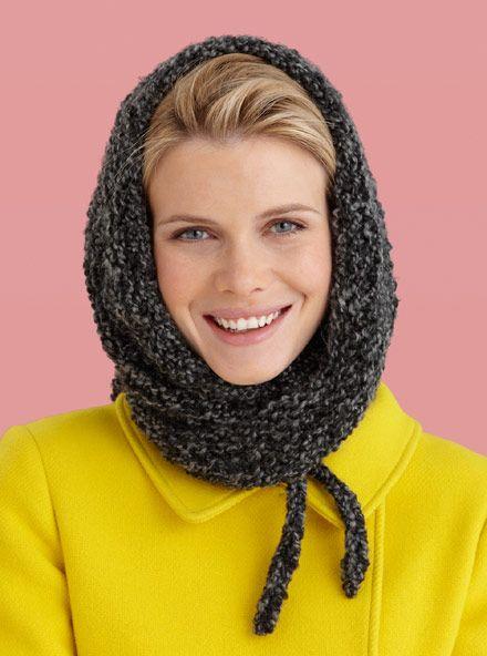 Fog Bank Triangle Wrap : Lion Brand Yarn Company  Shorter version of Grande Wrap