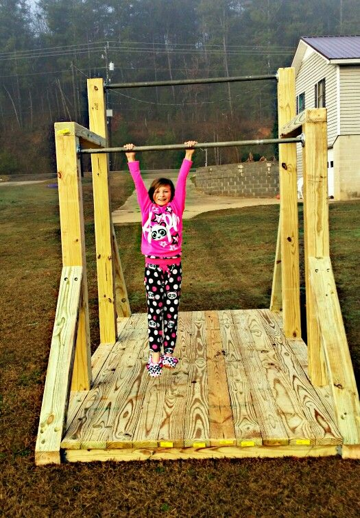 Homemade Gymnastics uneven bars...by Heads Plumbing & Marine Contracting. If you would like a set we do custom orders. Email . laneahead34@gmail.com