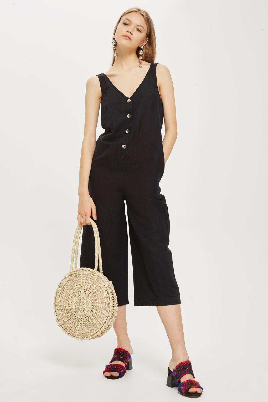40ebbd9369d Button Slouch Jumpsuit - Clothing- Topshop