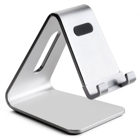 Silver Portable Aluminum Desktop Stand Smart Phone Tablet Holder Stand Smartphone Holder Desktop Stand Smartphone