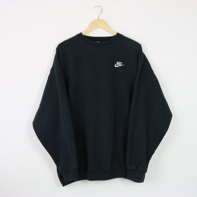 Vintage Faded Black Nike Sweatshirt   Great condition   Tag - Depop 1