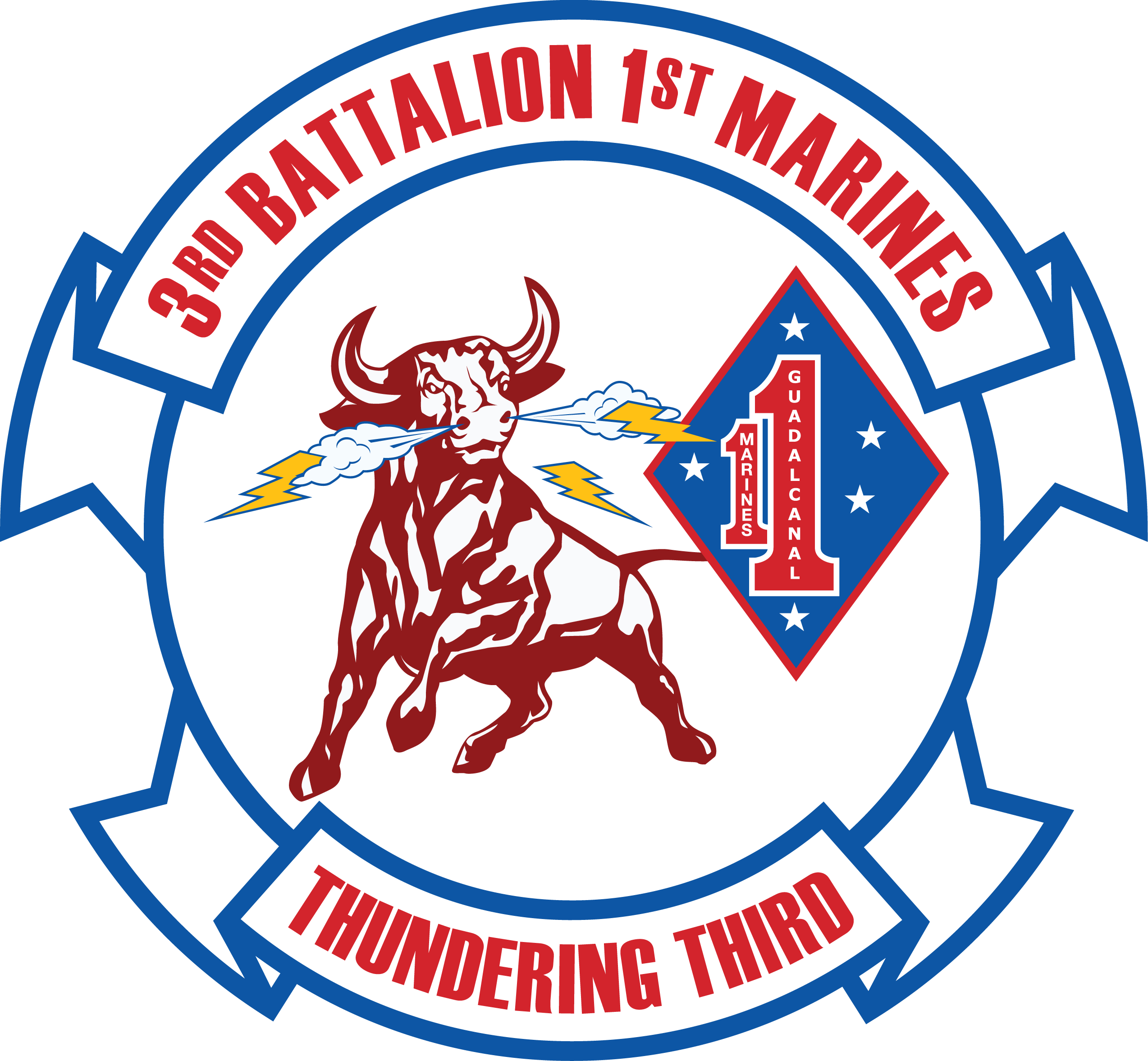 USMC Marine Corps 3rd Battalion 23d Marine Regiment Decal Sticker