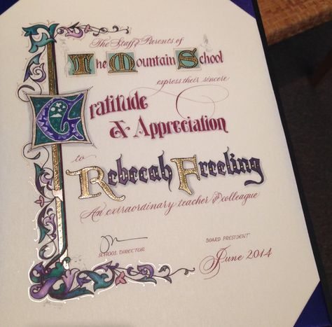 Certificate of Gratitude & Appreciation