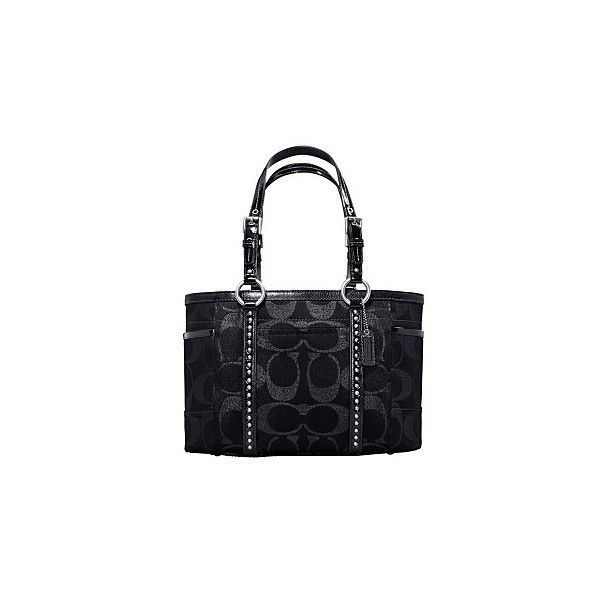 Macy S Coach Gallery Signature Studded Tote Liked On Polyvore Featuring