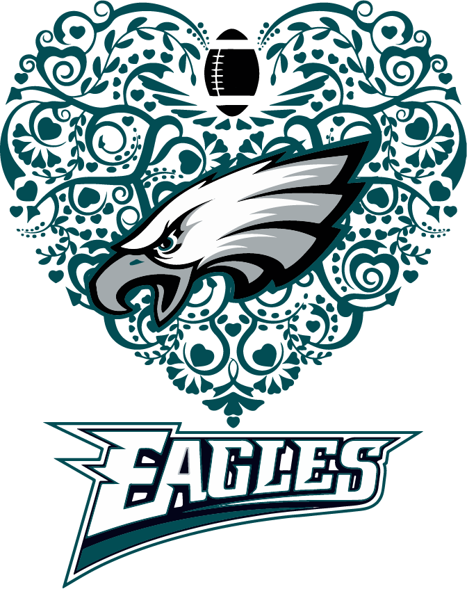 2eb6d80d Eagles Heart Football SVG DXF PNG Cricut Silhouette | DIY and crafts ...