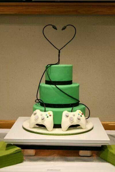 Gamers Cake Wedding Stuff Pinterest Video Game Wedding Gamer