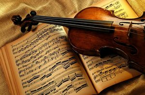 Violins, Musical Notes, Musical Instruments, Tablecloth, Music