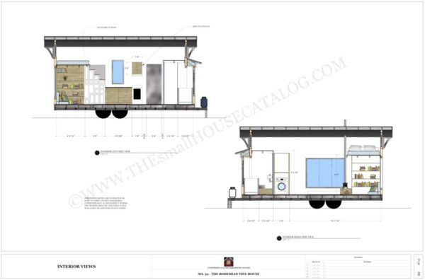 Free Tiny House Plans The Bohemian Tiny House On Wheels Planos De Casas Tiny House Casas