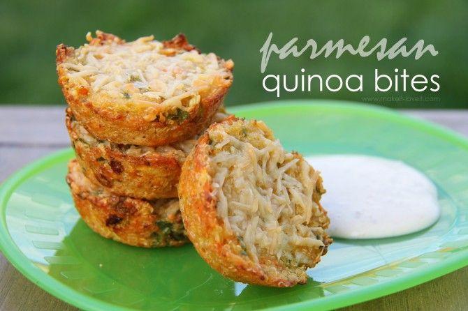 Parmesean Quinoa bites  #projectlunchbox #familyfreshcooking