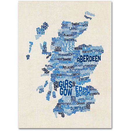 Trademark fine art scotland typography text map 2 inch canvas art by trademark fine art scotland typography text map 2 inch canvas art by michael tompsett size gumiabroncs Image collections