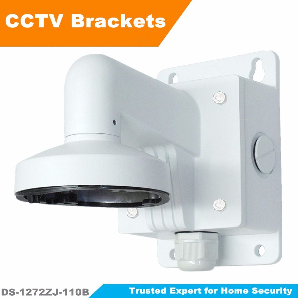 Hikvision High Quality Cctv Bracket Ds 1272zj 110b Wall Mounting Bracket For Dome Camera With Junction Box Bracket For Dome Camera Junction Boxes Home Security