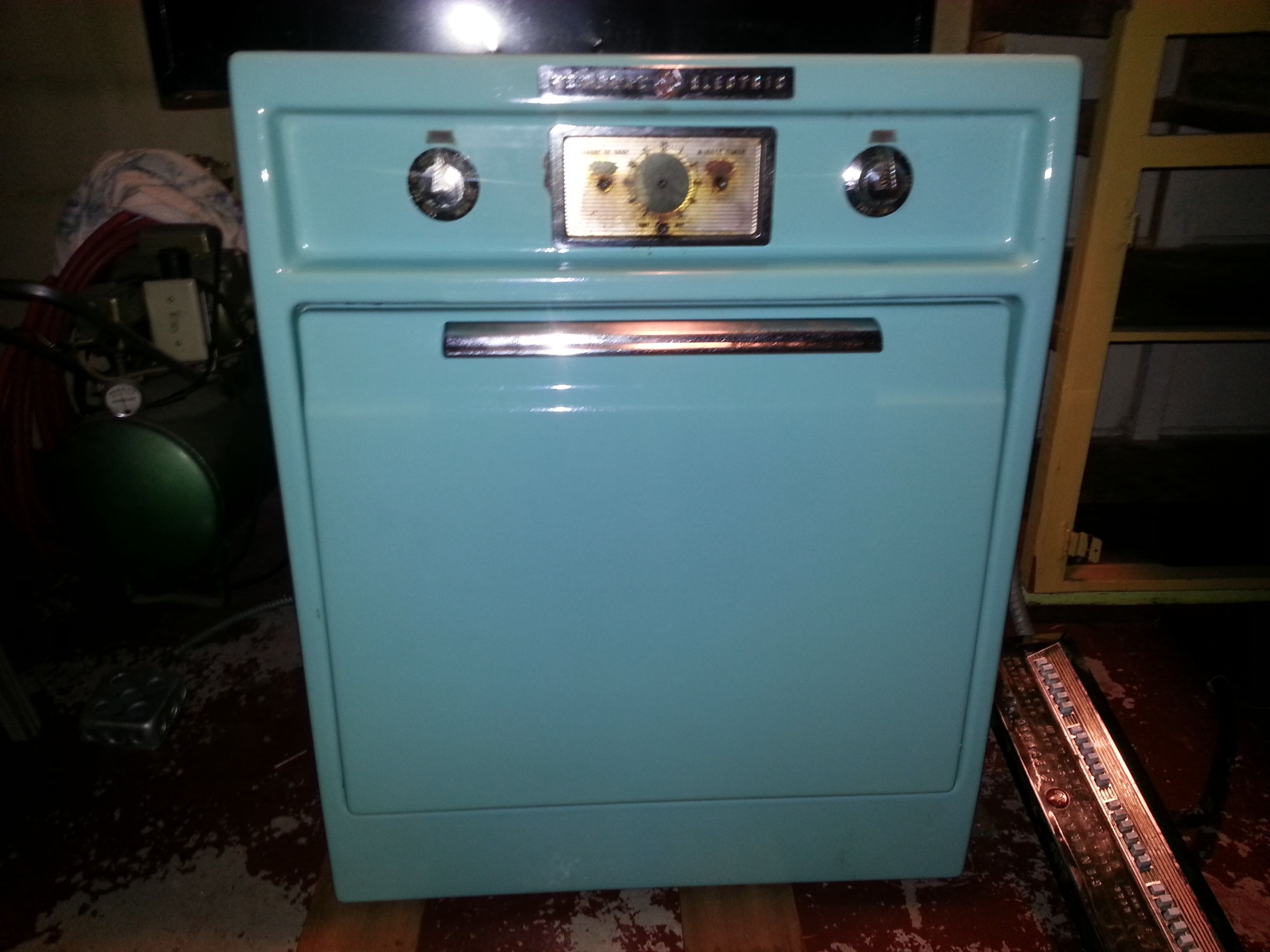 Sold Retro 1950s Turquoise Ge Stove Top And Wall Oven Great Condition Vintage Stoves Stove Top Oven Vintage Appliances