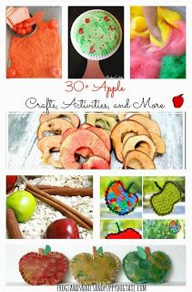 Apple Scented Glitter Glue and Apple CraftHow to Make Apple Scented Cloud DoughNew Twist To Painting With Apples30  Apple Crafts, Activities, and More The Kids Love