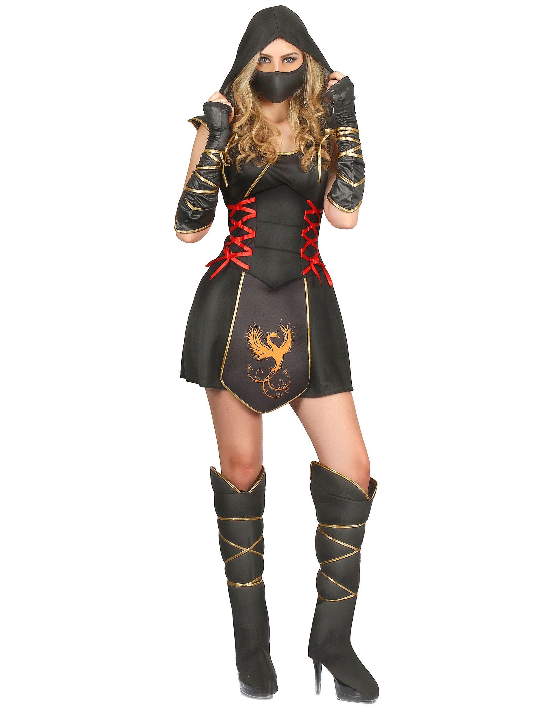 76573b87d Disfraz ninja para mujer guerrera | Disfraces Halloween | Disfraz de ...
