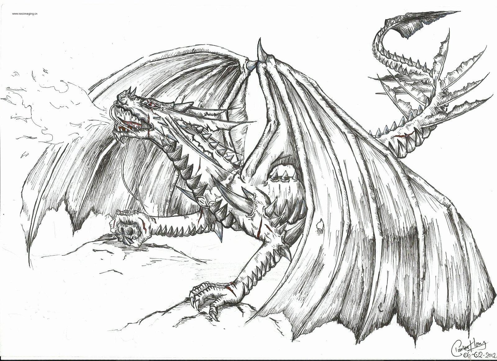 Fire Breathing Dragons Coloring Pages Awesome Of Dragon Breathing