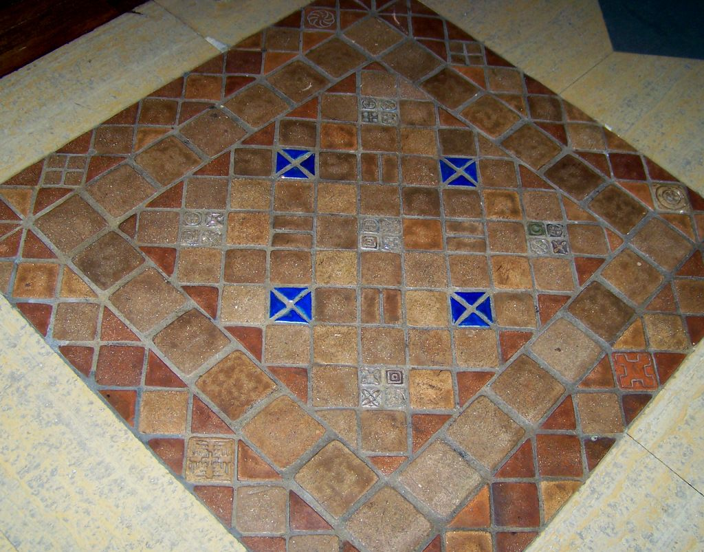 Tigers Tiles Pewabic Pottery Tile Installation Installation