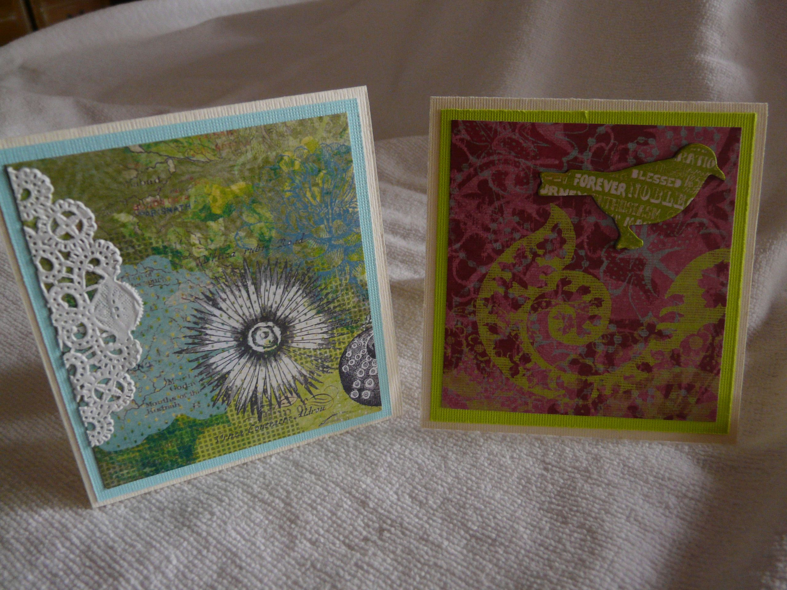 4 x 4 cards fitting in handmade box