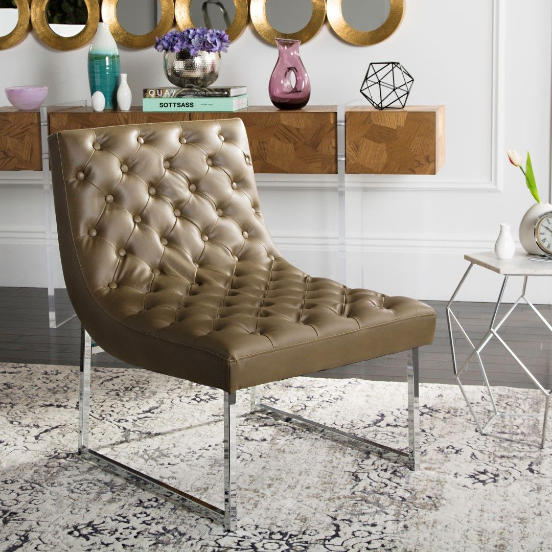 Zeppelin Leather Tufted Side Chair