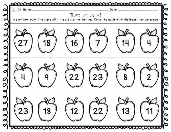 First Grade Back to School Printables: Math & ELA | - Math ...