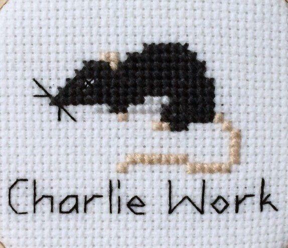 It's Always Sunny in Philadelphia - Charlie Work Rat Cross Stitch Pattern